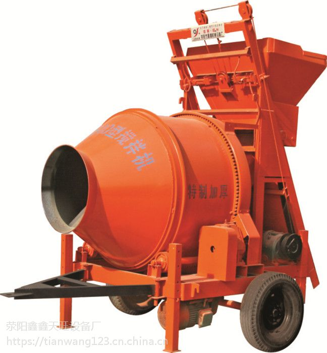 唐山鑫旺JZC400型全自动滚筒搅拌机建筑施工好帮手