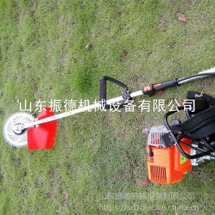 振德 新款手提式割灌机 开沟松土轮 汽油割草机 平原小麦用背负式锄草机