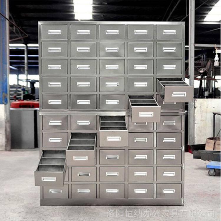 焦作 鹤壁70斗不锈钢中药橱实体工厂 40斗顶柜不锈钢中药斗生产厂家
