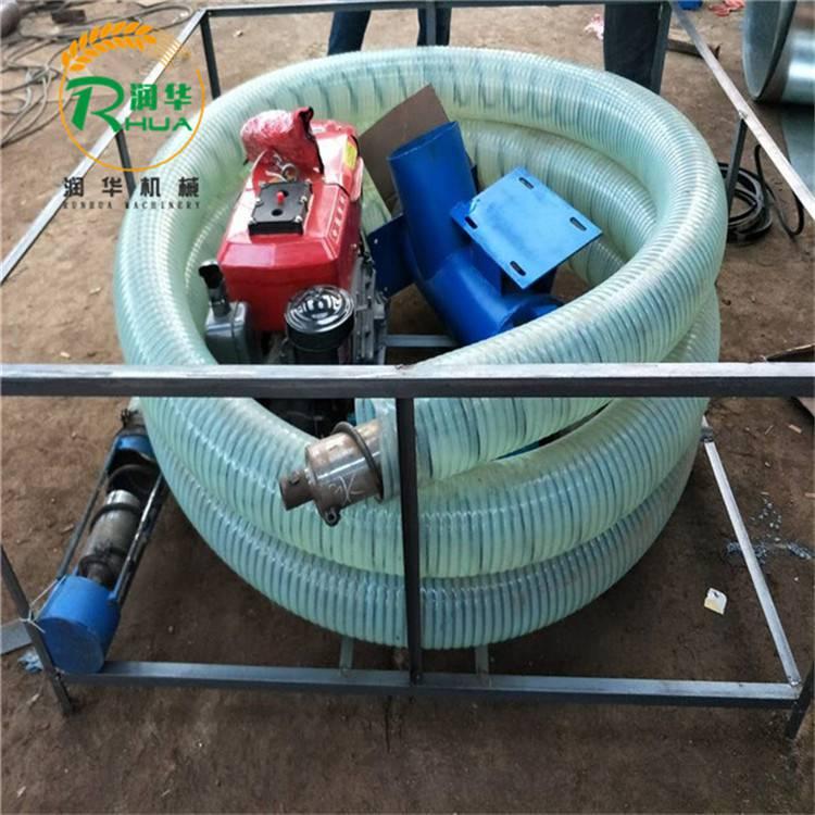 螺旋绞龙提粮机 润华 饲料化肥输送机 物料颗粒吸料机