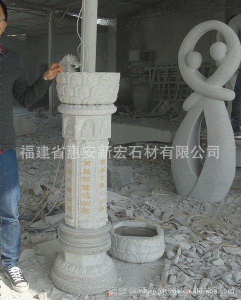 1.3米高石雕施食台七佛柱 寺院石雕刻