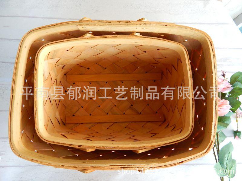 原木出口*木片厂家编织收纳篮*木篮子*手施肥精量提篮播种机图片