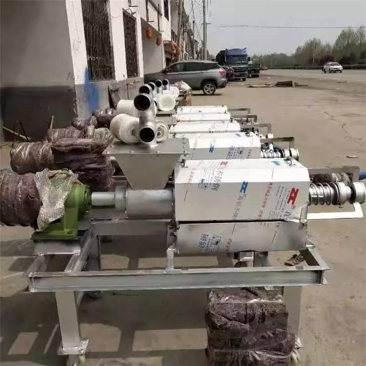 猪粪挤压式干湿分离机 润丰 出干粪固液分离机