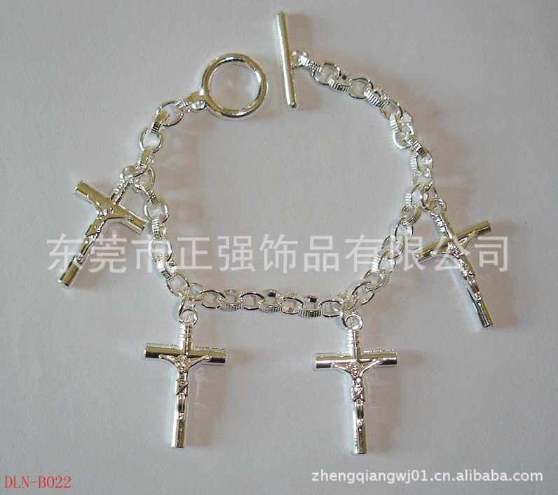 v子母子母挂件合金滴油手链韩款热卖十字架手链陶瓷手链金属壶杯图片
