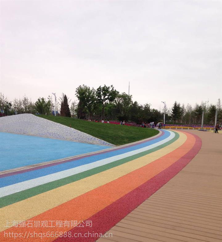 海南透水混凝土公司彩色透水混凝土厂家强石包工包料