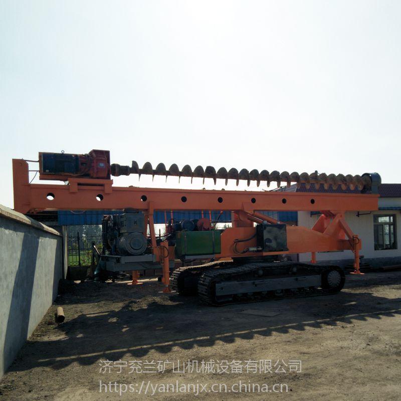 兖兰CFG履带式长螺旋打桩机厂家直供