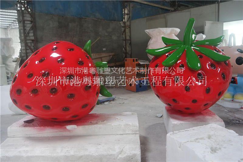 港粤厂家直销卡通水果火龙果玻璃钢雕塑
