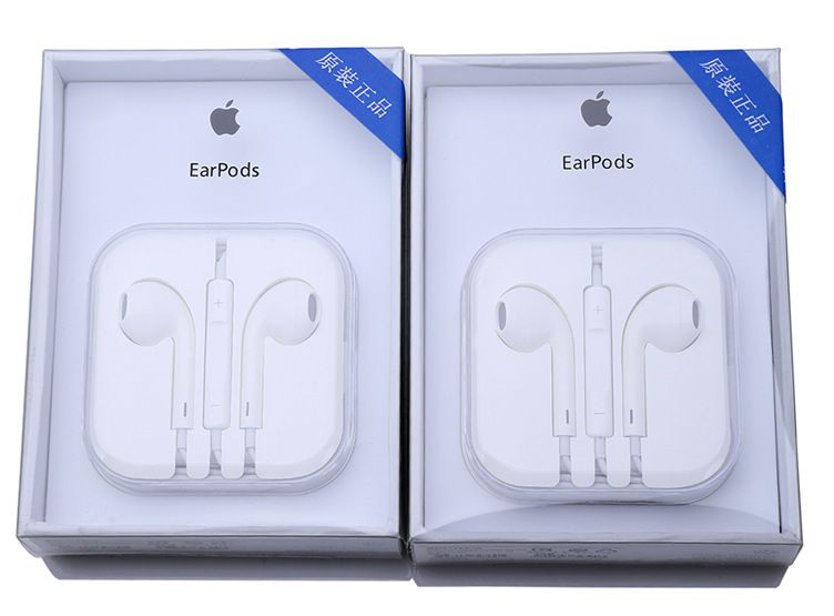 苹果耳机适用线控带麦厂家通用iphone5/5s/6扑克设备黑桃耳机手机袖扣图片