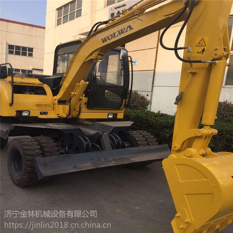 中国山东省月底促销875轮式挖掘机生产建筑挖掘机