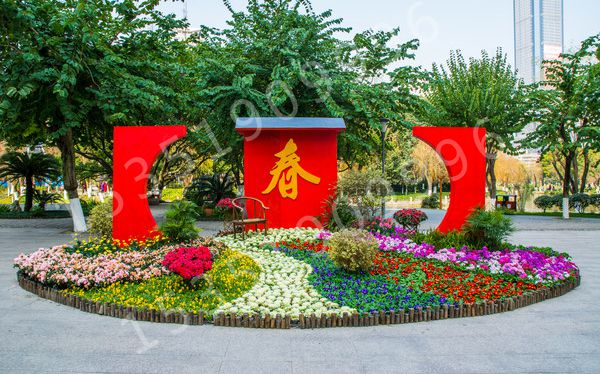 节日立体花坛,春节景观造型设计,元旦花坛设计,新年景观工程专业制作商!