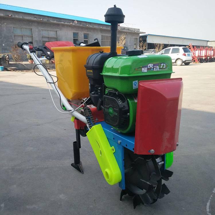 手推式播种施肥机 玉米花生播种机 乐民厂家直销
