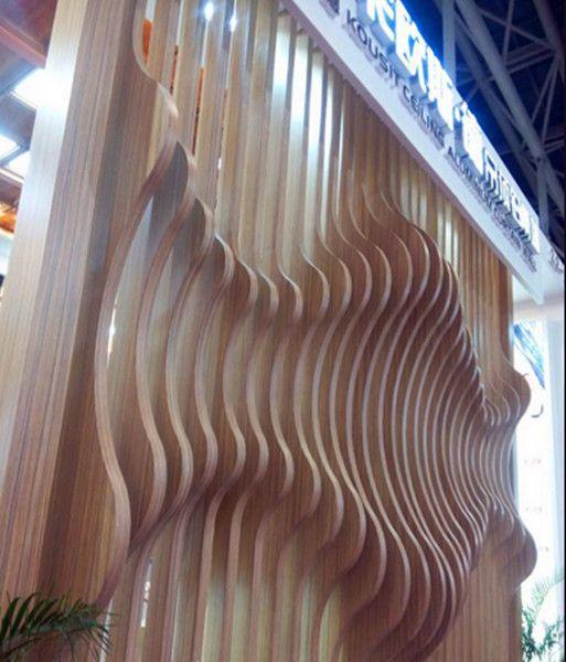 造型背景墙铝板_弧形铝方通墙面_铝合金造型背景墙定制厂家