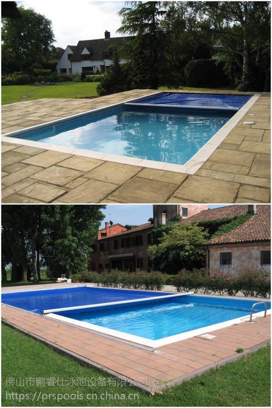 别墅泳池安全保护工程案例 鹏睿仕泳池安全覆盖系统