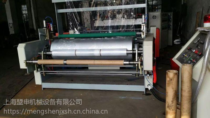 供应 全自动1米双层双螺杆缠绕膜机 高速拉伸缠绕膜机 一次出2卷