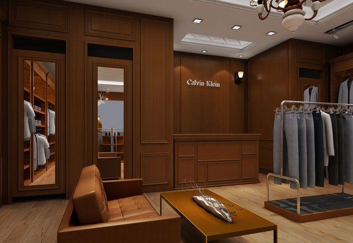 我和Calvin亲密无间欧式男装专卖店装修设计案例