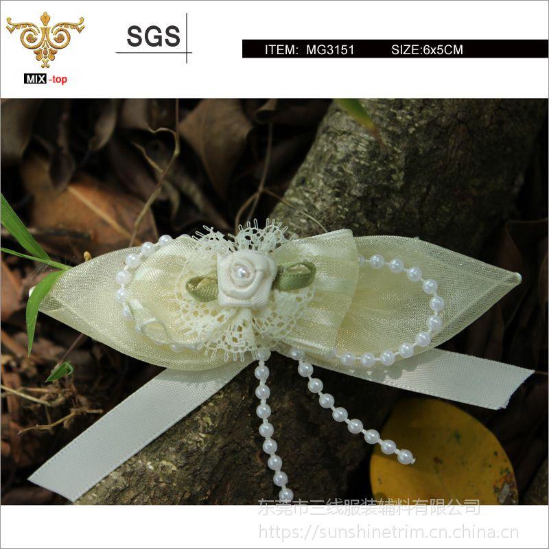 MIX-TOP-MG3151精品丝带手工花朵,手工胸花,童装胸花,定制产品