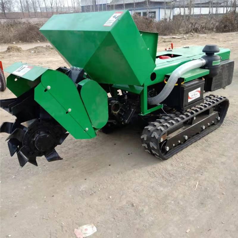 富兴28马力的柴油旋耕除草机 履带式开沟施肥机 开沟机厂家