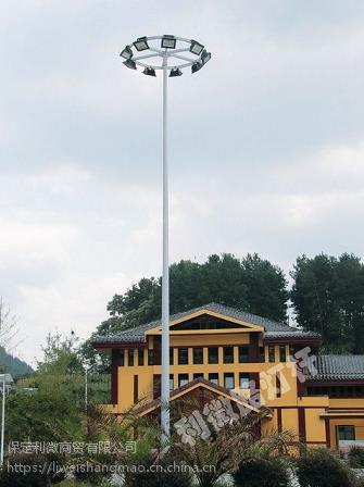供应全国 200W 12火 高杆灯 热镀锌喷塑灯杆