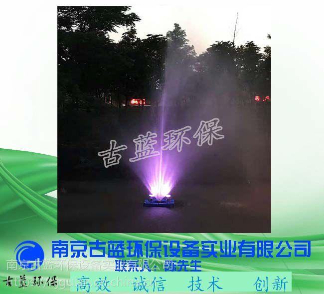 水库新能源增氧机 光伏微泡曝气机 解层式漂浮曝气机 带七彩灯
