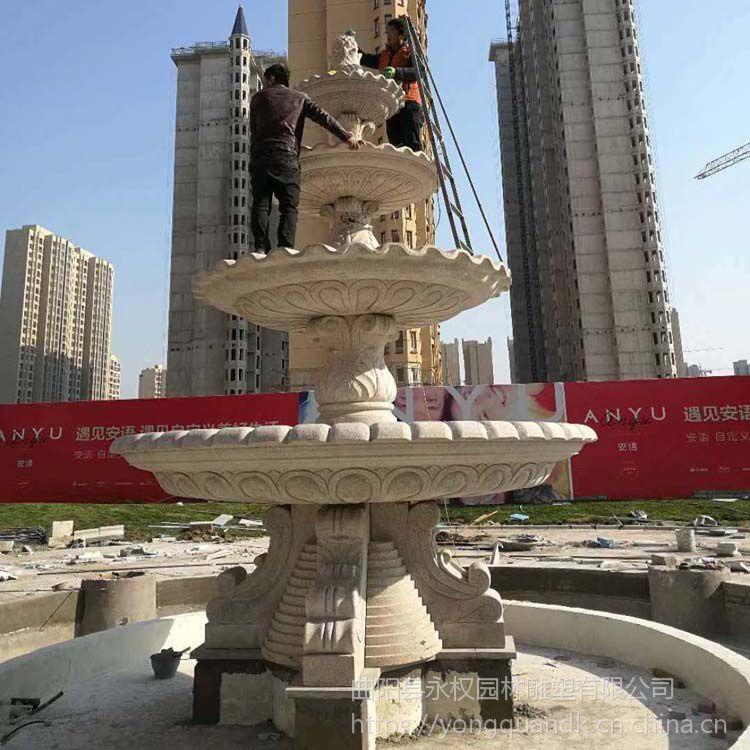 安徽石雕喷泉安装实例_石雕喷泉样式图片大全_永权雕塑