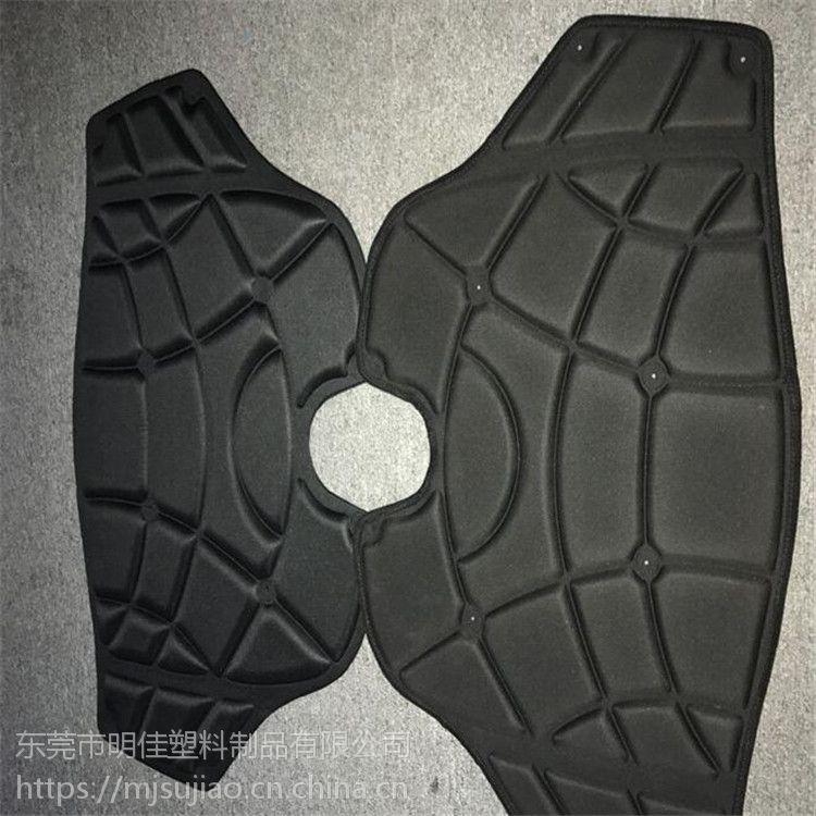 厂家定制环保eva泡棉冷热压一体成型/弹力布贴布eva热压