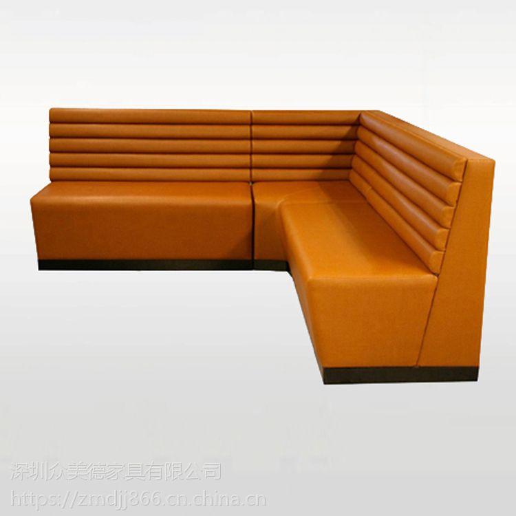 现代餐厅ktvL形拐角沙发,半圆卡座U卡座定做厂家直销