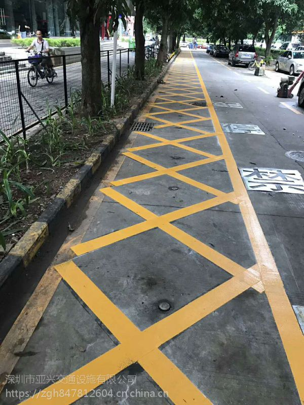 深圳宝安交通道路划线公司哪家好,停车位划线有什么材料