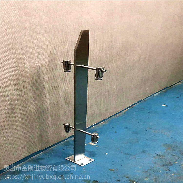 金裕 定制 不锈钢楼梯扶手护栏阁楼阳台围栏 栏杆卡玻璃立柱扶手LXA65