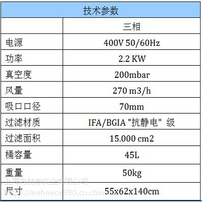 固体粉尘用防爆吸尘器TBZ22整机防爆欧盟认证进口品牌意柯西/DEPURECO价格
