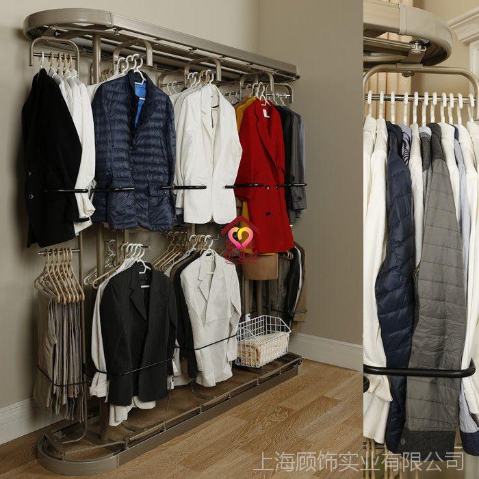 伊贝兹360度旋转衣架 衣帽间旋转衣架厂家直销三杆到八杆衣架