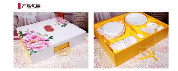 高档骨瓷餐具套装 创意陶瓷碗盘定制logo 实用促销婚庆节日礼品图片