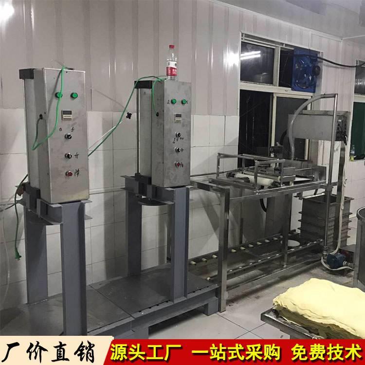 江苏南通仿手工豆腐皮机生产线,新款做豆皮的机器哪里有卖的厂家