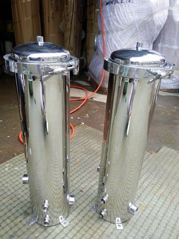 纯净水设备专用304不锈钢精密过滤器法兰式保安过滤器清又清环保