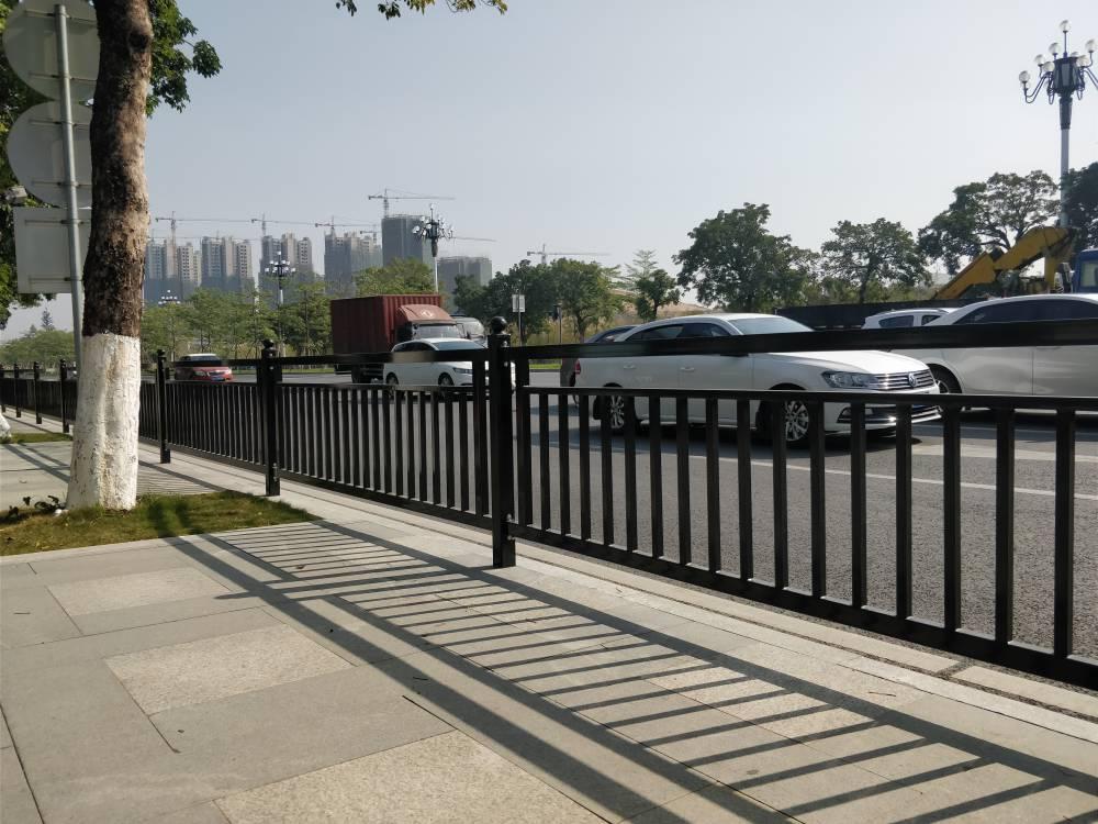 珠海横琴人行道防护栏 京式护栏价格 河道港口人行扶手栏杆定做