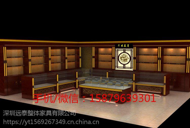 远泰白酒中式复古展示独立柜|茶叶烟酒食品店面展柜组装展柜yt-170245图片
