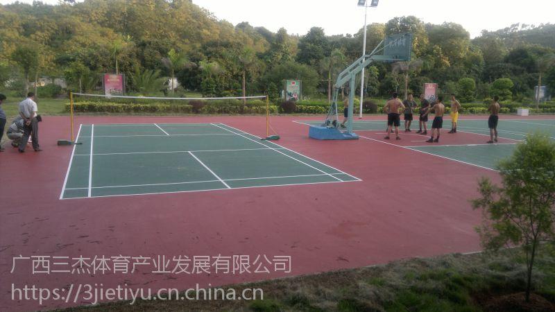 柳州学校塑胶篮球场 柳州塑胶球场厂家 本土的公司