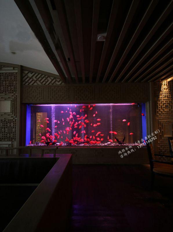 无锡餐厅鱼缸个性亚克力水族箱制作厂家