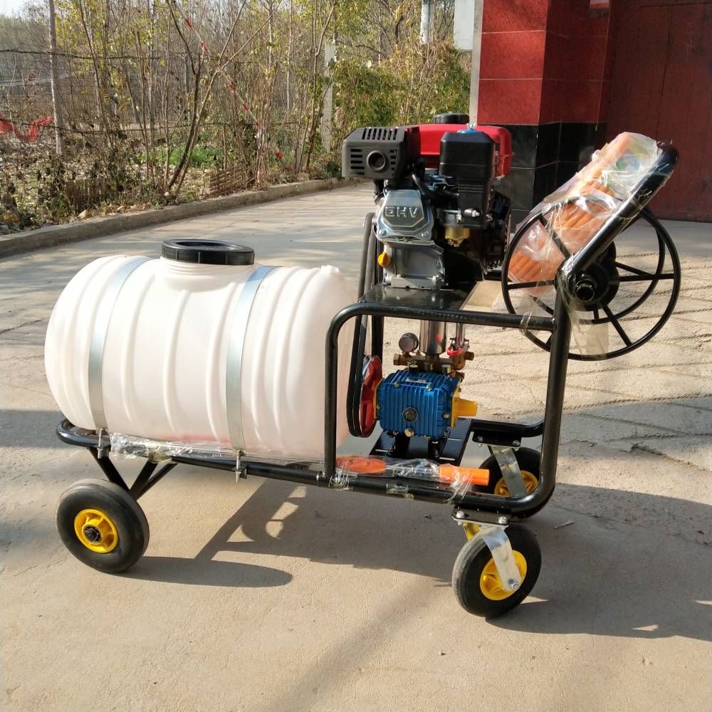 高喷式四轮打药机 手推式可移动打药机 乐丰牌