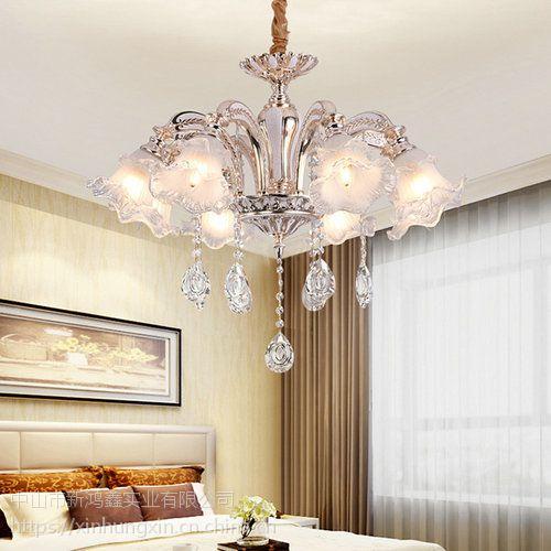 顺其自然水晶灯 赤峰玉石吊灯 全铜花形吊灯安装
