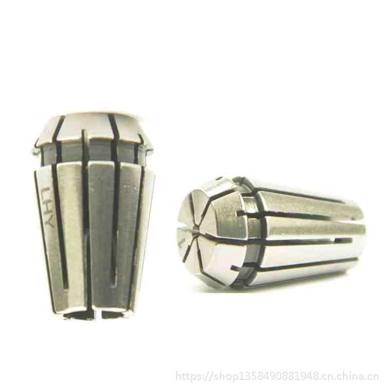现货供应ER11小规格夹头内孔0.5小孔夹头数控机床弹簧索咀