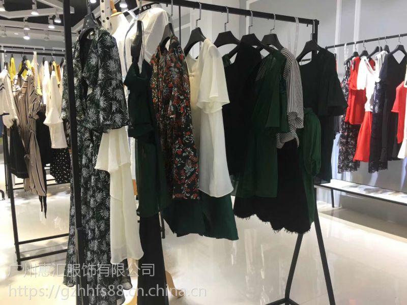 上海优雅时尚品牌 夏柏18夏装品牌折扣尾货走份批发