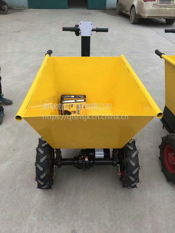 厂家直销电动手推车拉砖车 建筑工地电动平板车