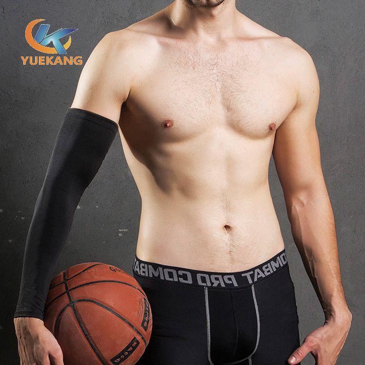 抗紫外线涤纶莱卡面料加压护肘 运动护臂篮球骑行防滑护臂 运动护具 厂家定制