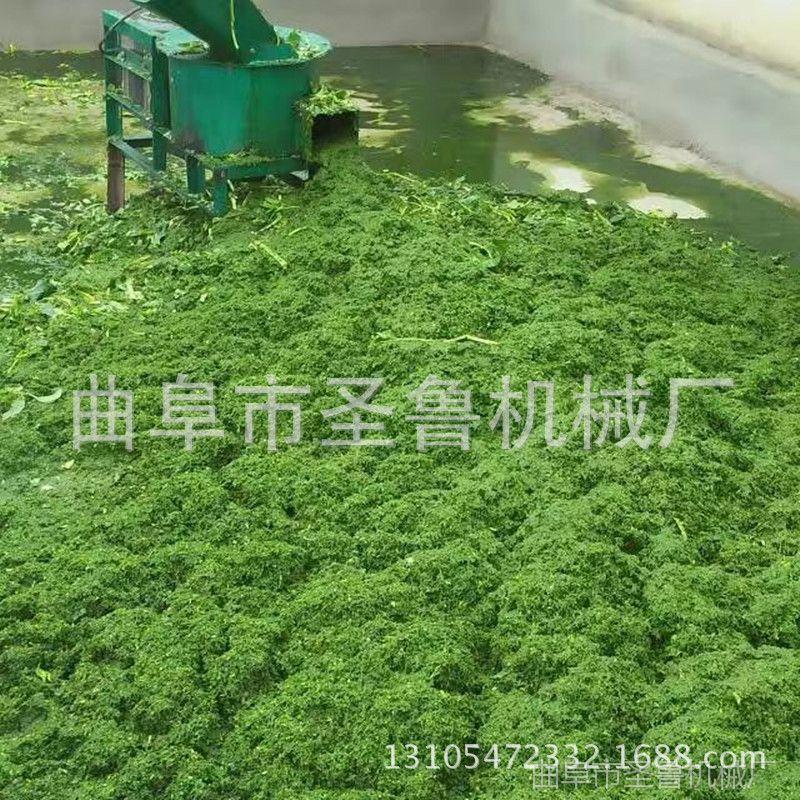 圣鲁400型青菜打浆机 湖南养殖打浆机 多功能玉米杆铡草机