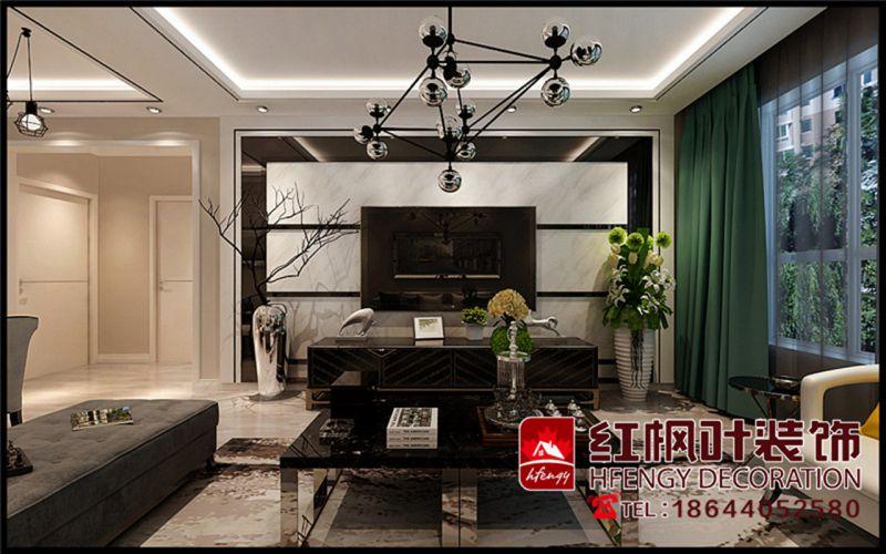 汇龙十九街-干净整洁现代风格-哈尔滨红枫叶装饰