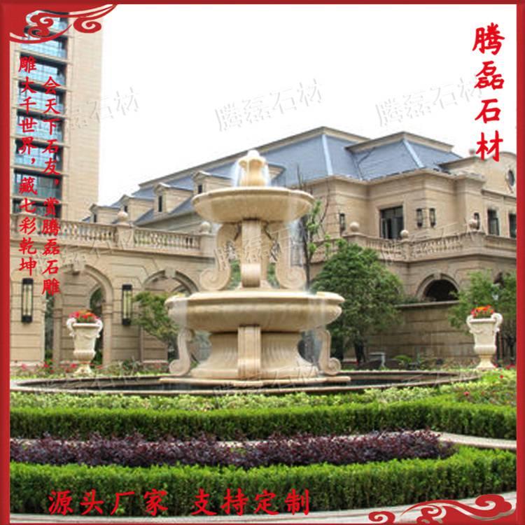 石材水钵尺寸定制 喷泉设计厂家 园林花钵水钵水池雕塑景观图