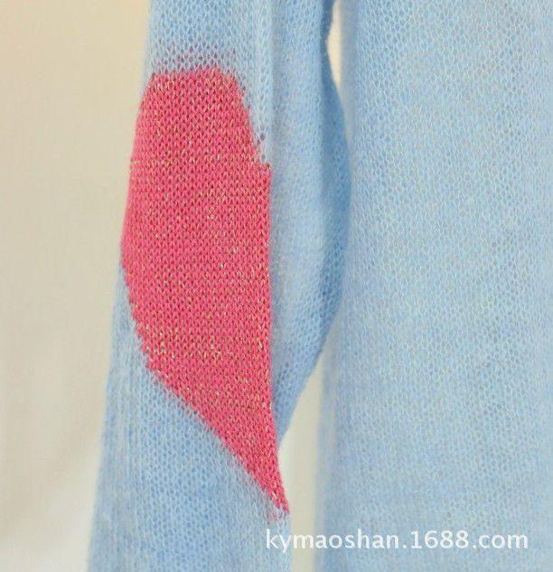 2014春款新版 欧美手织爱心破洞撕毁针织衫 长款薄毛衣图片