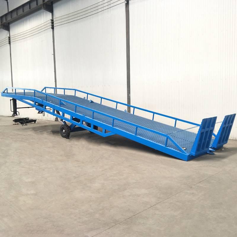 保定市厂家直销10吨登车桥 液压式箱货装卸平台
