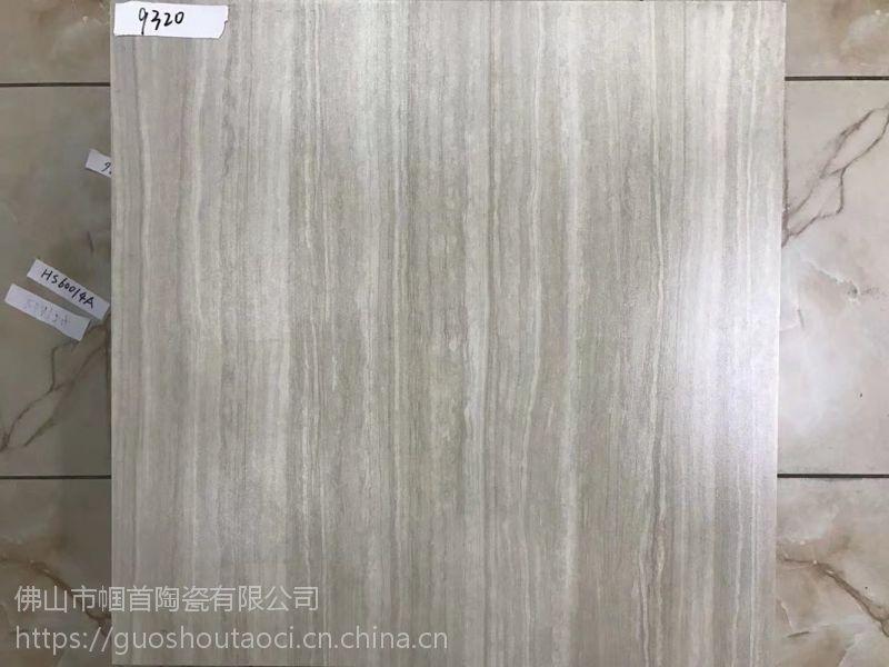 浅灰色哑光条纹线石仿古砖60*60CM