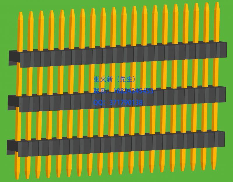 1.27mm间距单排直插焊板排针